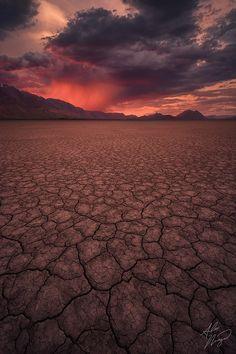 A fiery sunset, Alvord Desert, Oregon