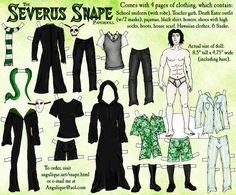 ^.^ A Snape paperdoll :P