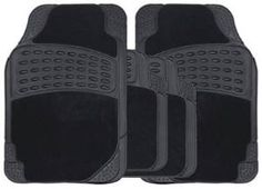 Streetwize SWCM64 4 pce Stellar Combination Rubber / Carpet Mat Set - Black