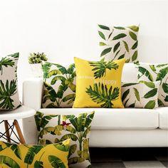 Tropical Furniture, Tropical Interior, Tropical Home Decor, Tropical Colors, Tropical Leaves, Tropical Plants, Tropical House Design, Tropical Houses, Garden Cushions
