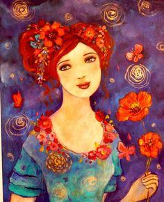 encore une peinture de Loetitia Pillault j'adore que des couleurs que j'aime