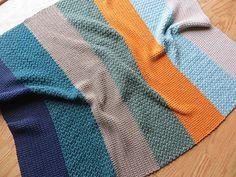 Modern Stripes Baby Blanket - free crochet pattern by Kelly Komejan Crafts. Adjustable size, worked in strips.