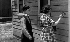 Buster Keaton and Sybil Seely in One Week (1920).