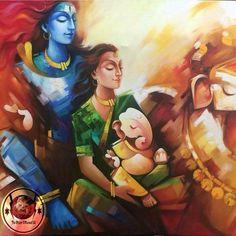 He is Father He is Mother He is Kin He is Best Friend He is Everyone He is Everything He is Eternal He is Immortal He is Lord Shiva Shiva Art, Krishna Art, Hindu Art, Lord Shiva Painting, Ganesha Painting, Wicca, Shiva Parvati Images, Shiva Shankar, Indian Art Paintings