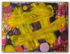 "HashTag 18"" x 24"" #tag #art #painting #yellow #regiaart #makeoffer"