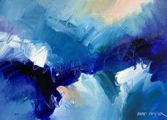 """Lafayette Bleu 4"" 22x30 Acrylic on PaperDavid M. Kessler"