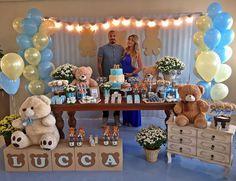 """""""Chá de bebê do amor da minha vida.. Lucca Tudo exatamente como queria e imaginei.. Cheio de energia boa, pessoas queridas, decoração impecável…"""""""