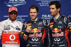 Lewis Hamilton, Sebastian Vettel, Mark Webber, Bahrain, 2012