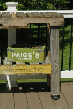 How to make a workbench out of pallets | Little House of Four: How to make a workbench out of pallets