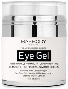 BAEBODY Beauty Eye Gel - Amazon's #1 Best Seller in the skin care category. Works as an anti-aging eye gel to reduce puffiness and dark circles using hyaluronic acid