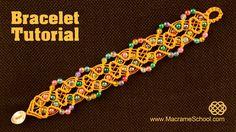 Beaded Macrame Bracelet Tutorial #Bracelet #Tutorial
