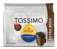 Gevalia Dark Italian Roast Coffee - Extra Bold - T Discs for Tassimo Brewers (2pack) >>> Learn more by visiting the image link.