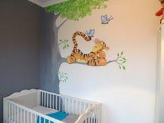 muurschildering babykamer Tigger