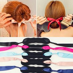 Incredible 2Pcs Beauty Hair Hairstyle Sponge Foam Bun Holder Maker Clip Short Hairstyles For Black Women Fulllsitofus