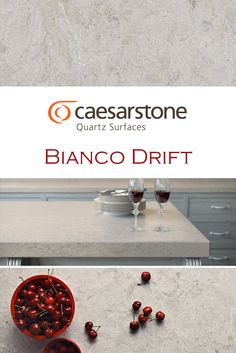 Bianco Drift by Caesarstone is perfect for a kitchen quartz countertop installation.