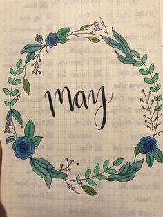 May cover page-bullet journal