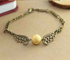 Golden Snitch Bracelet In Antique Bronze by BeautyandLuck on Etsy, $2.99