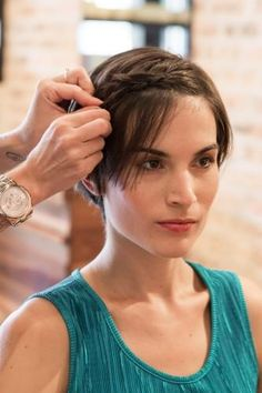 3 easy ways to style short hair  (photos by Lucy Hewett)