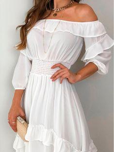 Vestido Gypsy dc Off Grad Dresses, 15 Dresses, Cute Dresses, Casual Dresses, Short Dresses, Summer Dresses, Dresses With Sleeves, Trend Fashion, Girl Fashion