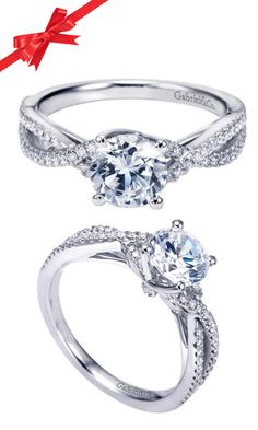 This is the ring you tie the knot with! White gold with a choice of any stone. That's what I'm talking about!