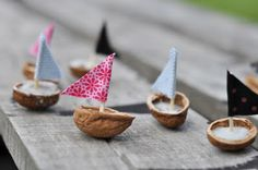 little walnut shell boats cute easy little summer craft make for kids while out on a walk