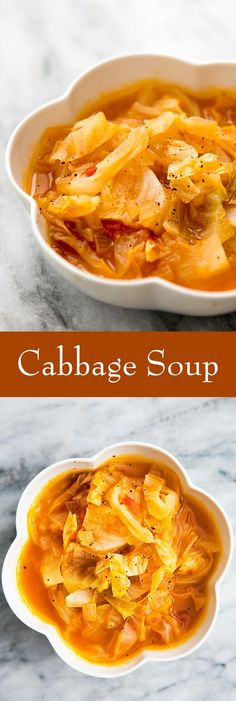 Cabbage Soup! A simple, healthy, nourishing soup with cabbage, chicken stock, onions and tomatoes. #Easy On SimplyRecipes.com