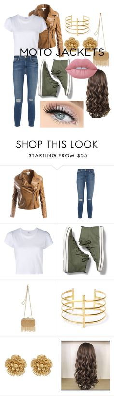 """""""Moro Jacket"""" by colleen-culp on Polyvore featuring Sans Souci, Frame Denim, RE/DONE, Keds, Inge Christopher, BauXo, Miriam Haskell and Lime Crime"""