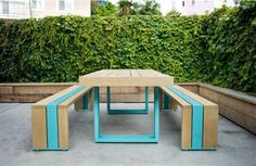Dinning Outdoor Furniture Set - Modern Outdoor Furniture With Simple Style High Art Color