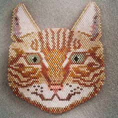 Caramel, le chat de la maison un collier en devenir... #miyuki#perles#beads#delicas#brickstitch #chat#cat#peyote #bijoux #collier #jewel #chat #necklace#handmade #faitmain#jenfiledesperlesetjassume #perlesandco #handcraft