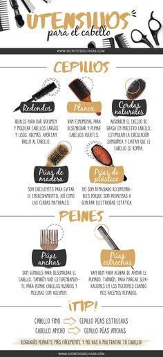 Hoy os traigo un post dónde hablamos de los diferentes tipos de utensilios para el cabello y su uso, además de algunos tips.