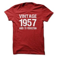 VINTAGE 1957 Aged To Perfection T Shirts, Hoodies. Get it now ==► https://www.sunfrog.com/Birth-Years/VINTAGE-1957-Aged-To-Perfection-T-shirt-and-Hoodie.html?57074 $19