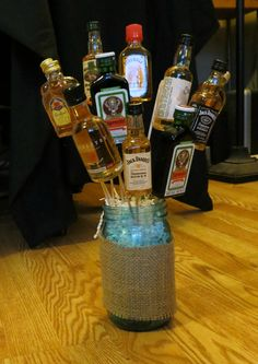A Manly Bouquet - really cool Bday idea!