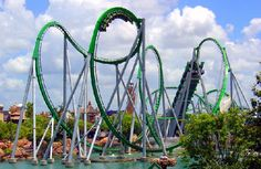 The hulk!!! in orlando florida island of adventures this was the first ride i went on best roller coaster ever!!!!!
