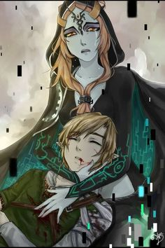 The Legend of Zelda : Twilight Princess : Link and Midna - this is super depressing :(