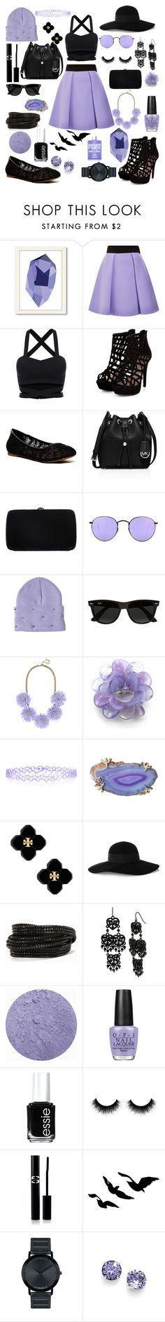 """""""Lilac; Casual vs Classy"""" by mkusler ❤ liked on Polyvore featuring Americanflat, FAUSTO PUGLISI, Lucky Brand, MICHAEL Michael Kors, Sergio Rossi, Ray-Ban, High Heels Suicide, BaubleBar, Chanel and Monsoon"""
