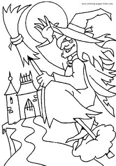 free halloween coloring pages   Halloween color page, holiday coloring pages, color plate, coloring ...