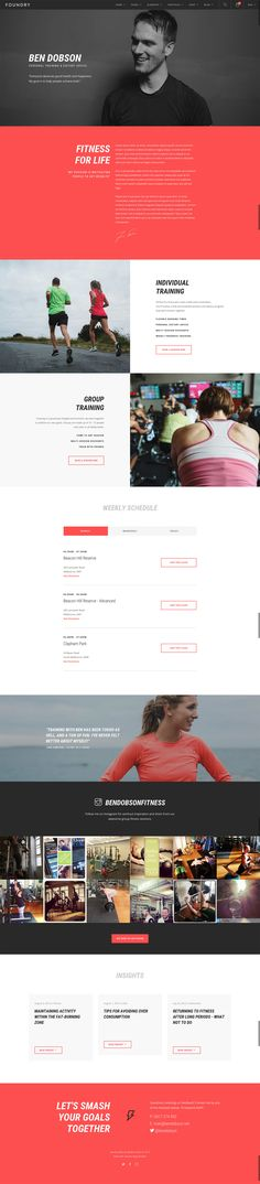 Foundry - Fitness Trainer Layout by Craig Garner #web #design #layout
