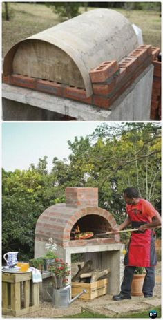 DIY outdoor pizza oven ideas- DIY Outdoor Pizzaofen Ideen DIY Outdoor Pizza Oven Ideas, A Collection of DIY Outdoor Pizza Oven Projects. If you love the hot smell of fire-baked pizza, you will love these pizza ovens …, # outdoor brick pizza oven - Pizza Oven Outdoor, Outdoor Cooking, Brick Oven Outdoor, Brick Bbq, Outdoor Brick Pizza Oven, Oven Diy, Four A Pizza, Bois Diy, Outdoor Kitchen Design