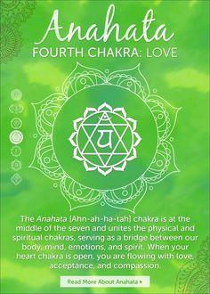 Fourth Chakra: Anahata https://chopra.infusionsoft.com/app/hostedEmail/41829385/74b1d8ea3efa5882?inf_contact_key=e65f93d7d6c7f517d638e4478ecd8adb9d0d3a4d299efbc0dabcd5f974b945f2