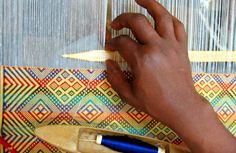 Beautiful patterns handwoven in Ethiopia