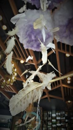 Product launch event.  #mywork #stagedesign #feathers #clouds #lights #fly #fairytale #megoo #alinaduta