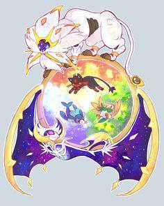 Pokémon Sun and Moon starters and legendaries