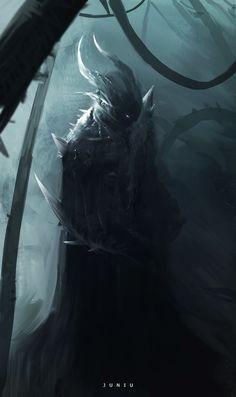 Kai Fine Art is an art website, shows painting and illustration works all over the world. Monster Concept Art, Fantasy Monster, Monster Art, Shadow Monster, Dark Creatures, Fantasy Creatures, Mythical Creatures, Shadow Creatures, Dark Fantasy Art