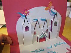 DIY Castles card Pop up card