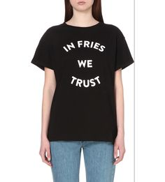 ETRE CECILE In fries we trust t-shirt