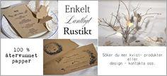 Bröllopskort, Inbjudan, Program - Anna Bor the Desirable Crafts