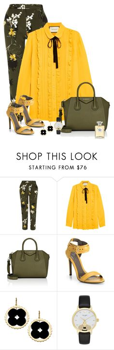 """""""Flowers and bees"""" by clampigirl ❤ liked on Polyvore featuring River Island, Gucci, Givenchy, Jason Wu, Asha by ADM, Kate Spade and Chanel"""