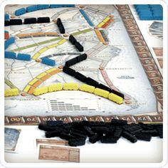 Ticket to Ride / Les aventuriers du rail. Auteur: Alan R. Moon Designer: Julien Derval