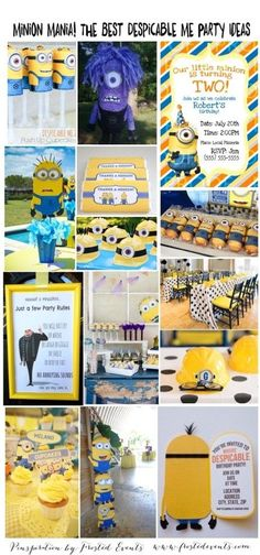 Get ready for Minion mania with the new Minions movie coming out! Planning a Despicable Me themed party? Here are the best ideas and inspiration for putting together an awesome celebration for your little Minions birthday Minion Party Games, Minion Food, Minion Theme, Despicable Me Party, Minion Birthday, Boy Birthday, Minion Cakes, Birthday Ideas, Minion Baby