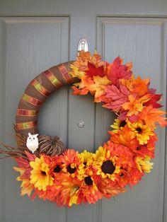 Fall wreath with owl!